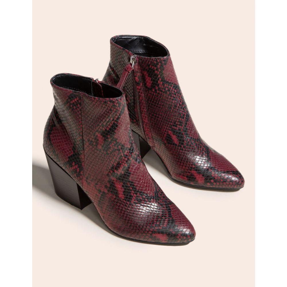 ドルチェヴィータ DOLCE VITA レディース ブーツ ブーティー シューズ・靴【Perilla Snake Block Heel Black & White Booties】RED