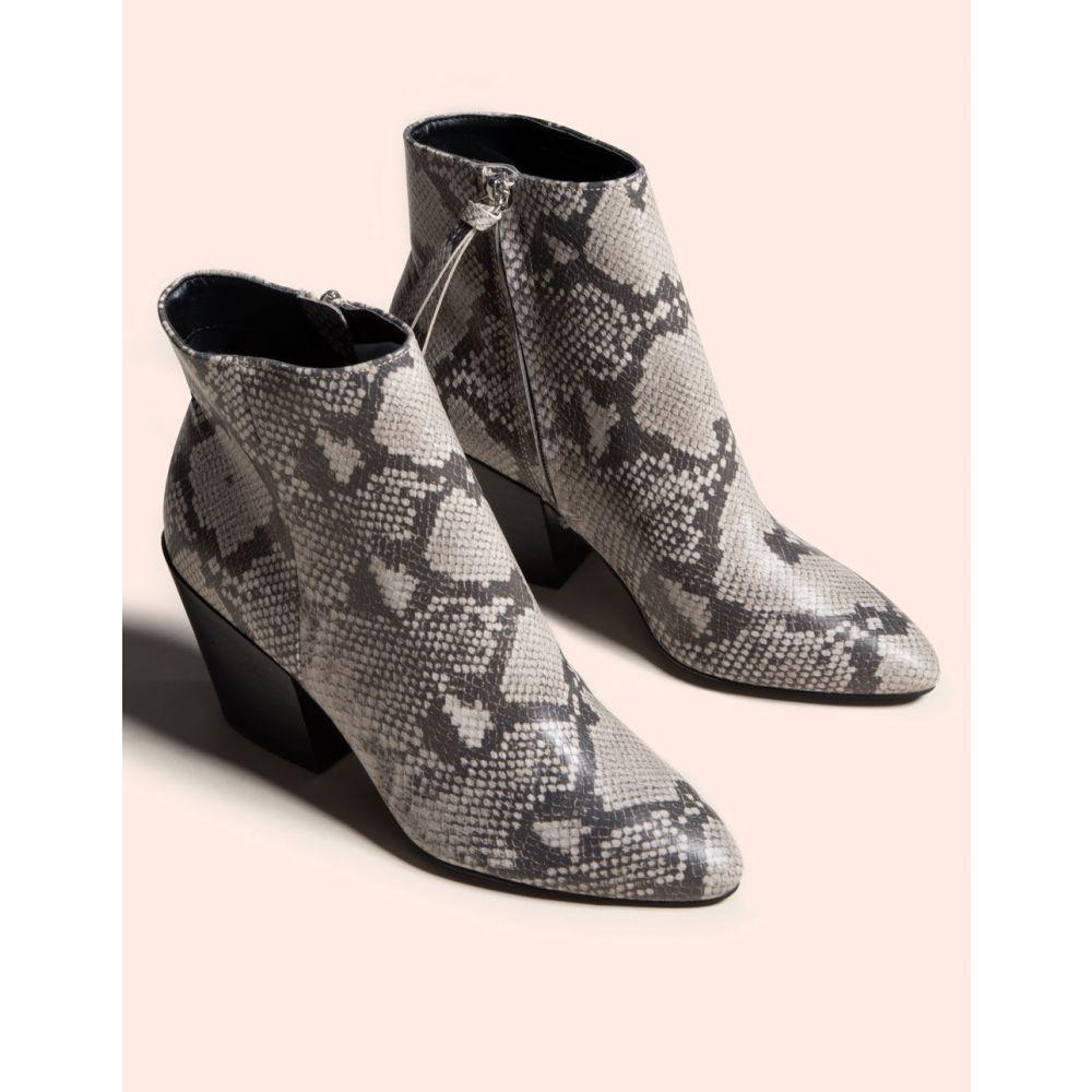 ドルチェヴィータ DOLCE VITA レディース ブーツ ブーティー シューズ・靴【Perilla Snake Block Heel Black & White Booties】BLK/WHT