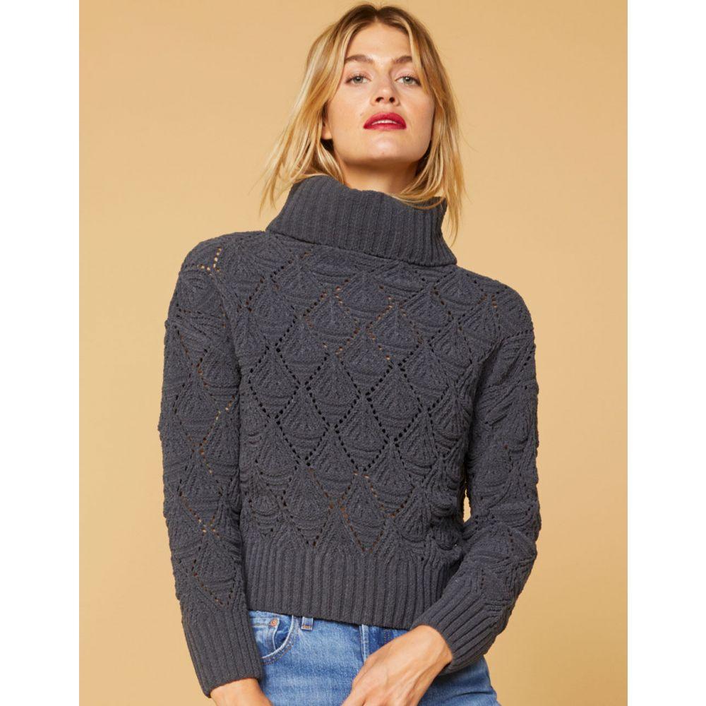 ウェスト オブ メルローズ WEST OF MELROSE レディース ニット・セーター トップス【Open To Knit Matte Chenille Sweater】CHARCOAL