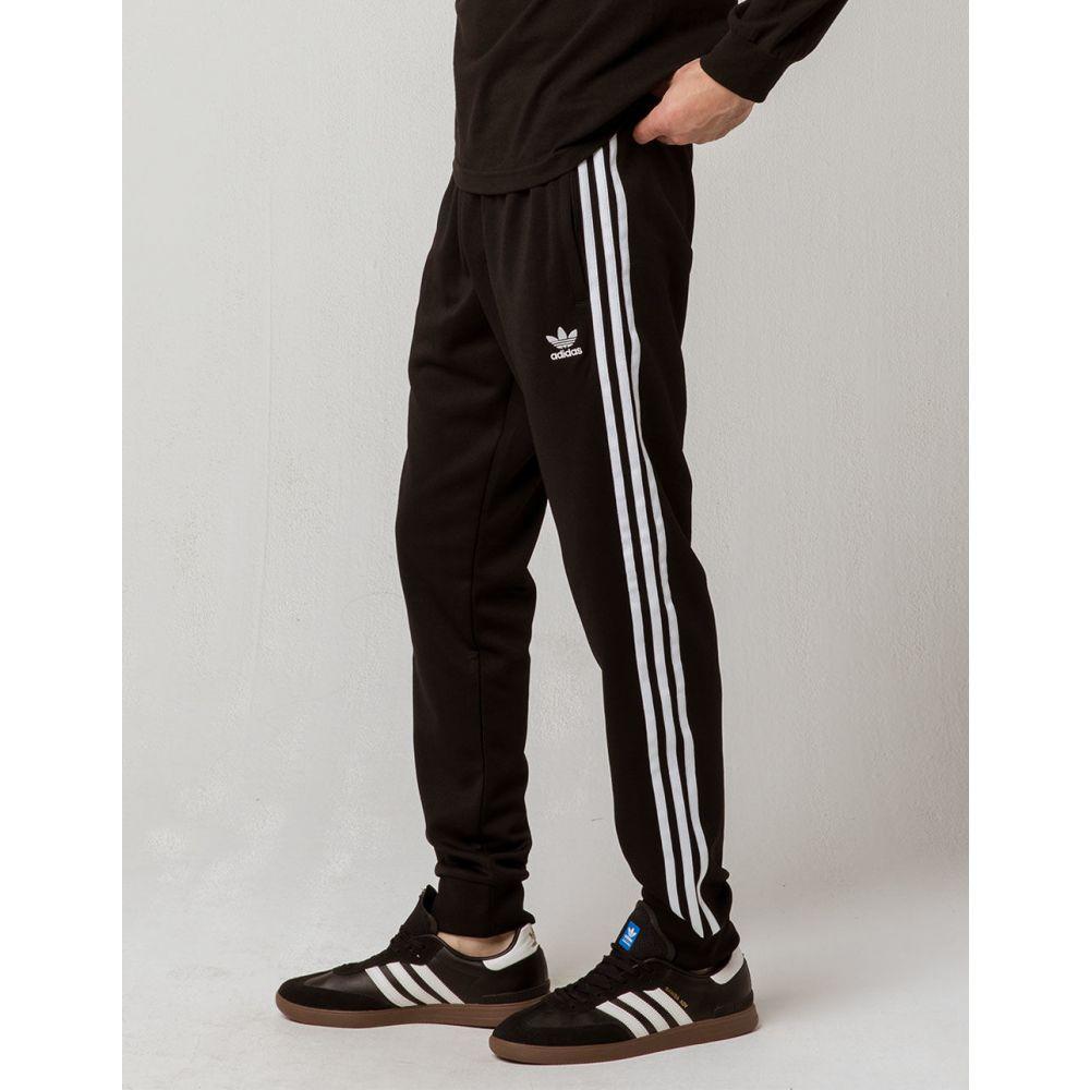 アディダス ADIDAS メンズ スウェット・ジャージ ボトムス・パンツ【Originals Side Stripe Track Pants】BLACK
