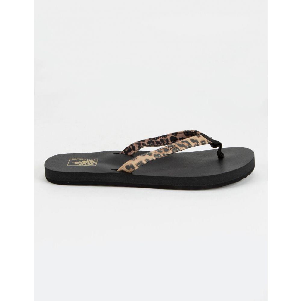 ヴァンズ VANS レディース ビーチサンダル シューズ・靴【Soft-Top Leopard Sandals】LEOPARD
