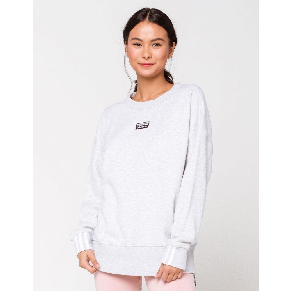 アディダス ADIDAS レディース スウェット・トレーナー トップス【Light Grey Oversized Sweatshirt】LIGHT GREY