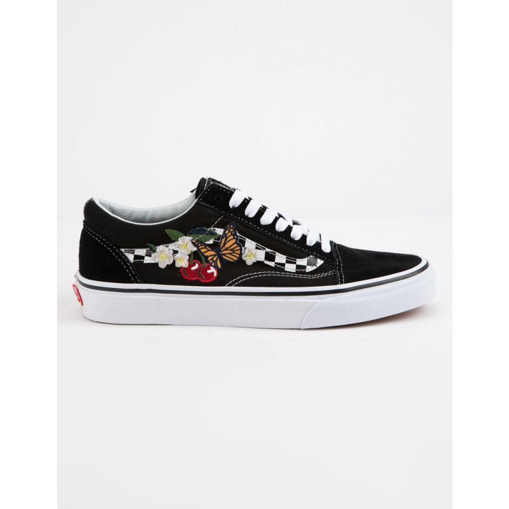 ヴァンズ VANS メンズ スニーカー シューズ・靴【Checker Floral Old Skool Shoes】BLACK
