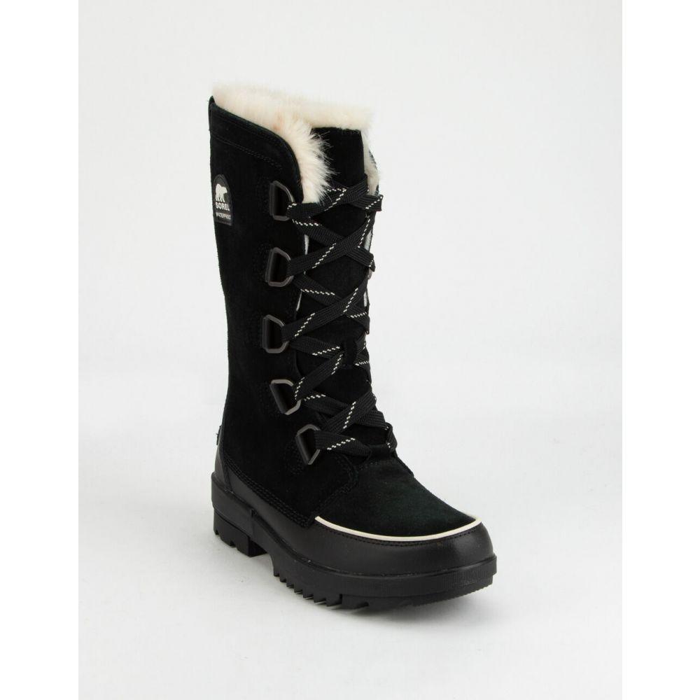 ソレル SOREL レディース ブーツ シューズ・靴【Tivoli IV Tall Black Boots】BLACK