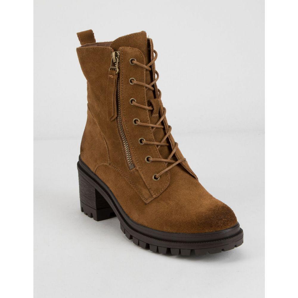 ワイルドディーバ WILD DIVA レディース ブーツ レースアップブーツ シューズ・靴【Suede Lace Up Lug Boots】CAMEL