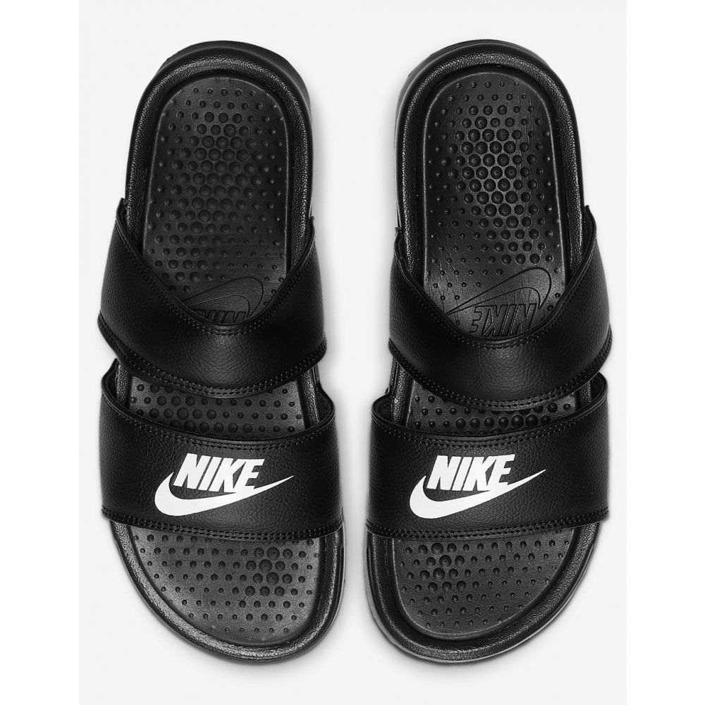 ナイキ NIKE SB レディース サンダル・ミュール シューズ・靴【NIKE Benassi Duo Ultra Black Slide Sandals】BLACK/WHITE
