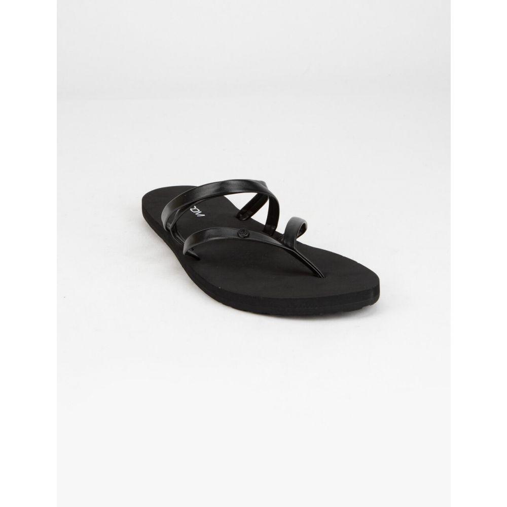 ボルコム VOLCOM レディース サンダル・ミュール シューズ・靴【Easy Breezy II Black Sandals】BLACK/BLACK