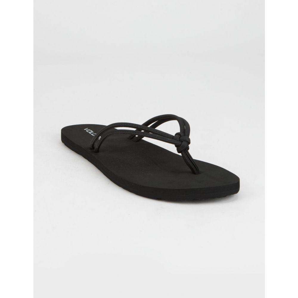 ボルコム VOLCOM レディース サンダル・ミュール シューズ・靴【Forever And Ever II Black Sandals】BLACK