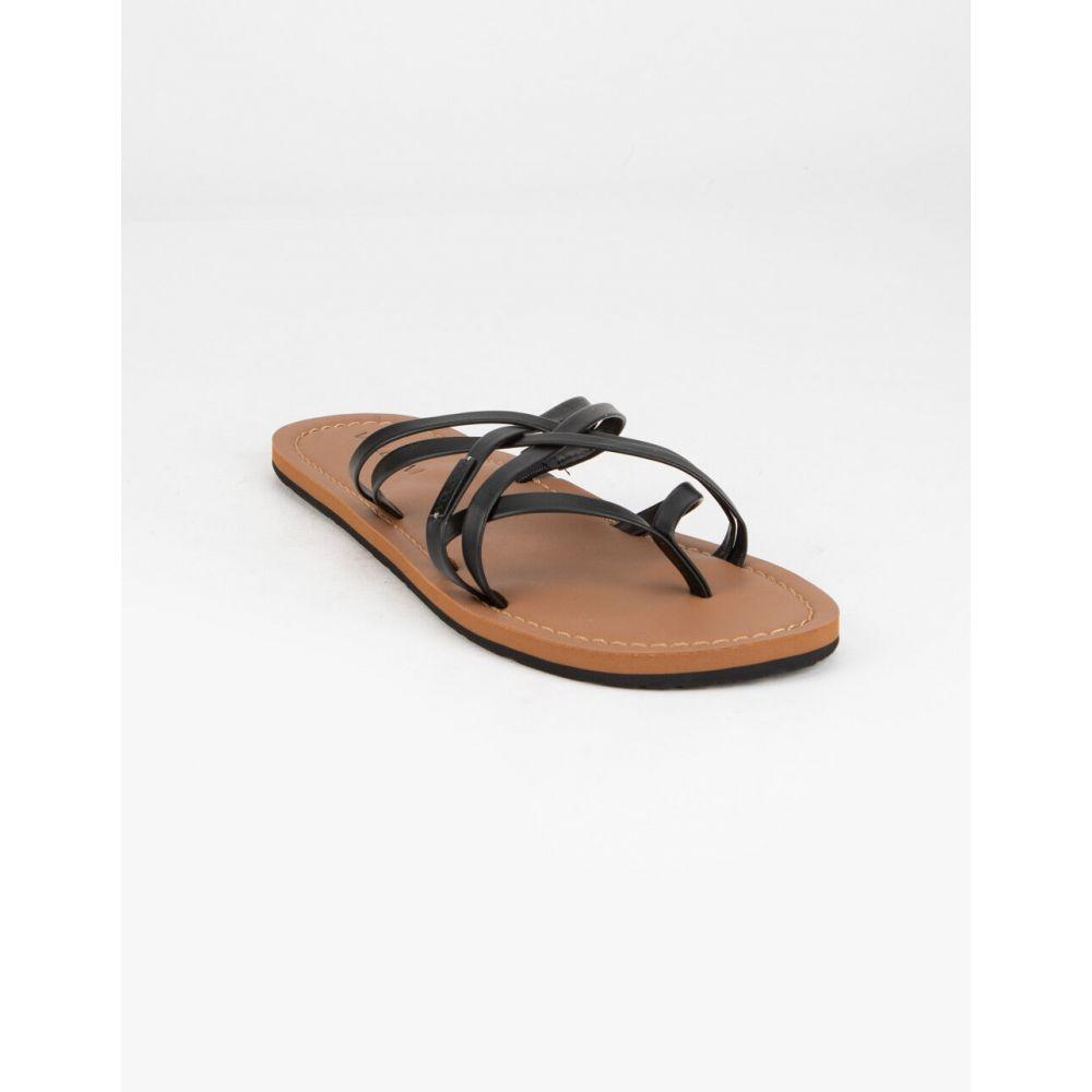 ボルコム VOLCOM レディース サンダル・ミュール シューズ・靴【Strap Happy Black Sandals】BLACK
