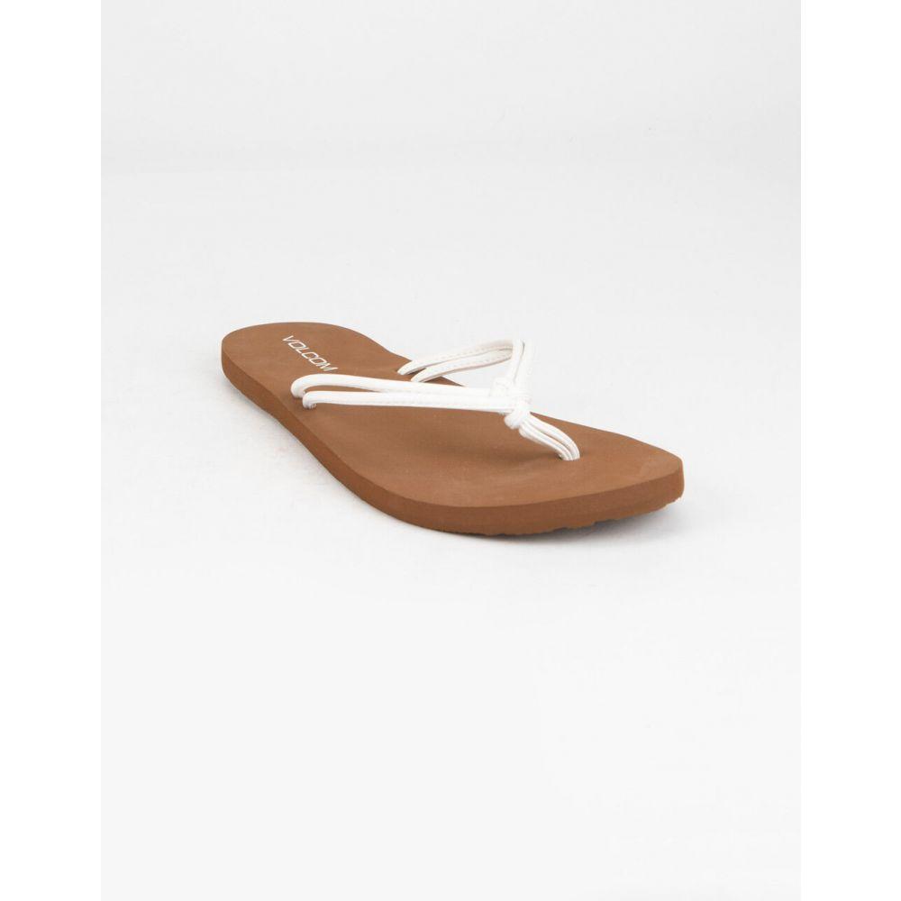 ボルコム VOLCOM レディース サンダル・ミュール シューズ・靴【Forever And Ever White Sandals】WHITE