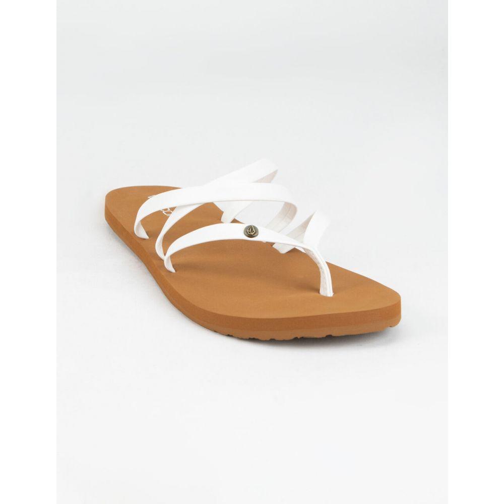 ボルコム VOLCOM レディース サンダル・ミュール シューズ・靴【Easy Breezy II Tan Sandals】WHITE