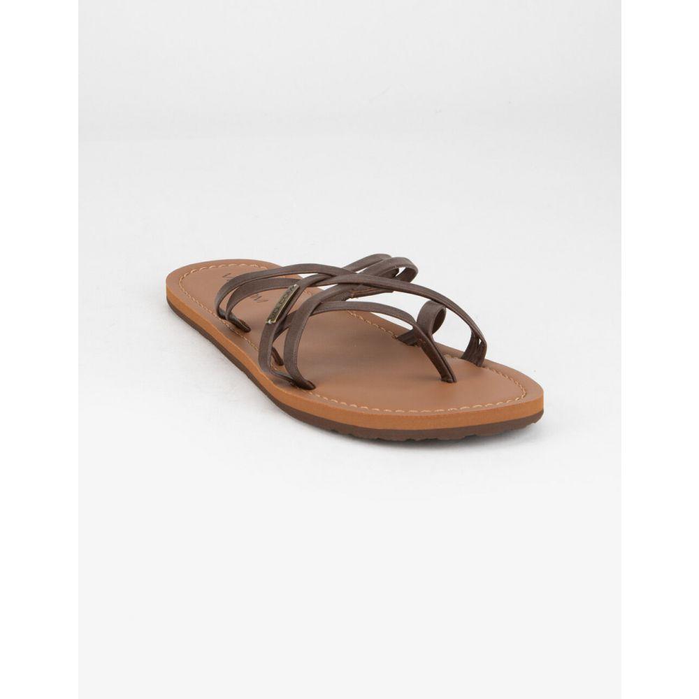 ボルコム VOLCOM レディース サンダル・ミュール シューズ・靴【Strap Happy Black Sandals】BROWN