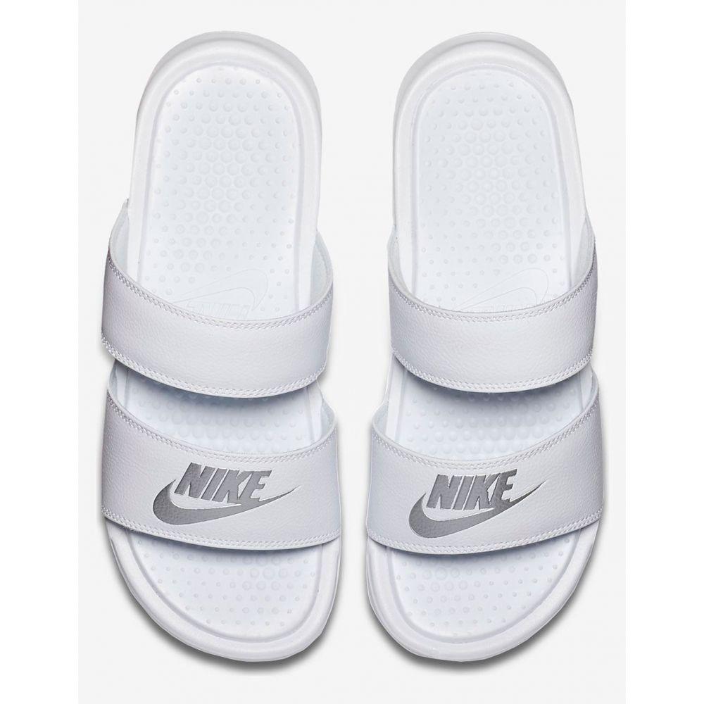 ナイキ NIKE レディース サンダル・ミュール シューズ・靴【Benassi Duo Ultra White Slide Sandals】WHITE