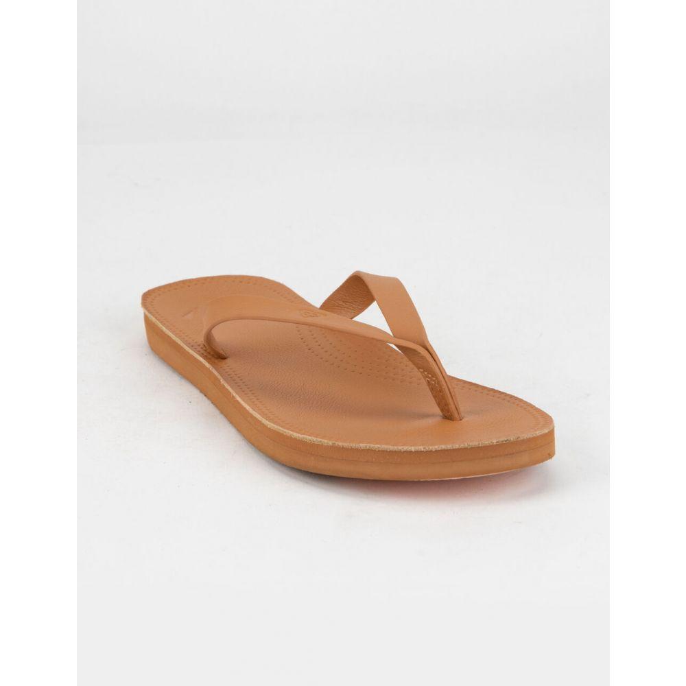 ロキシー ROXY レディース サンダル・ミュール シューズ・靴【Brinn Tan Leather Sandals】TAN