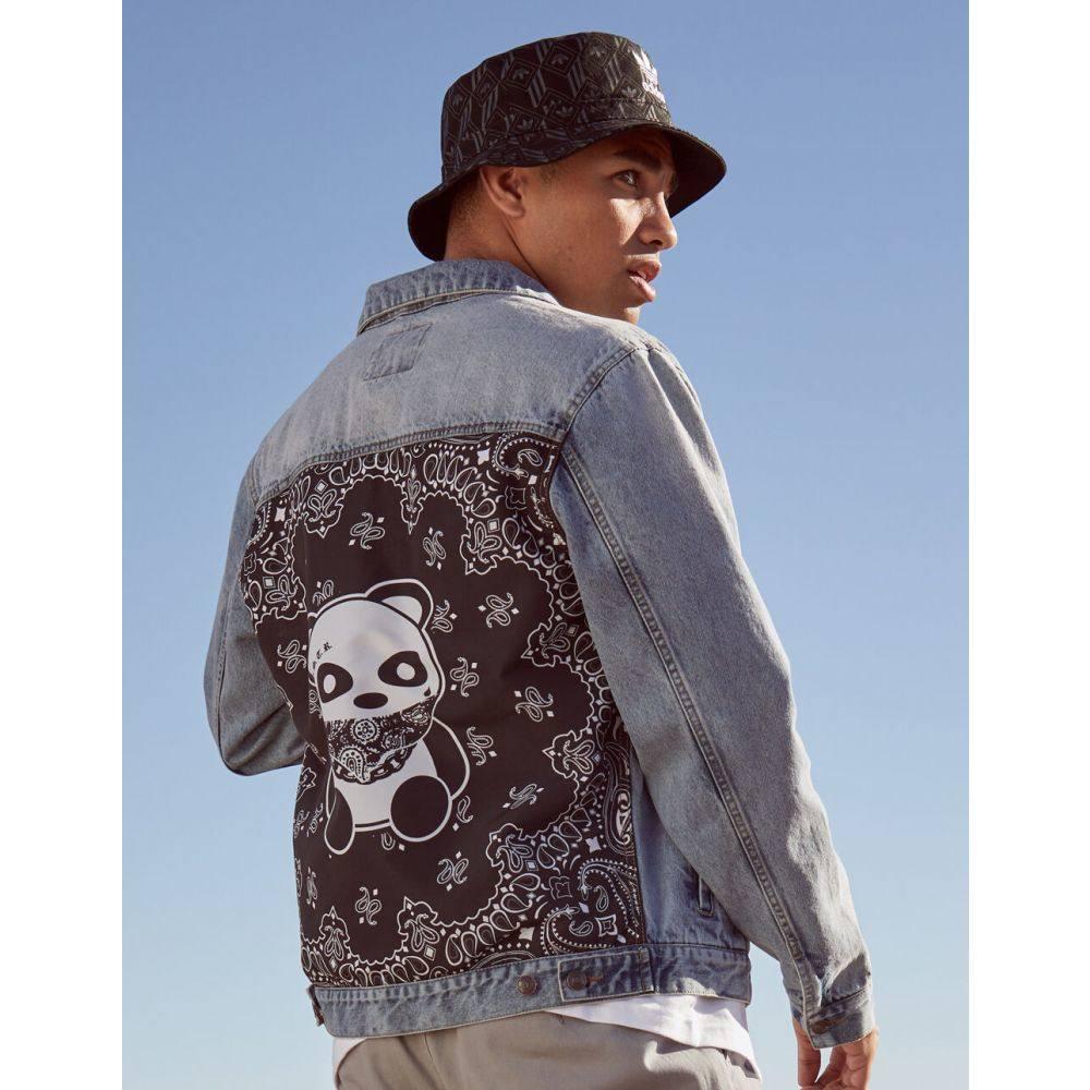 ビジター VSTR メンズ ジャケット Gジャン アウター【Thug Panda Denim Jacket】MEDIUM WASH