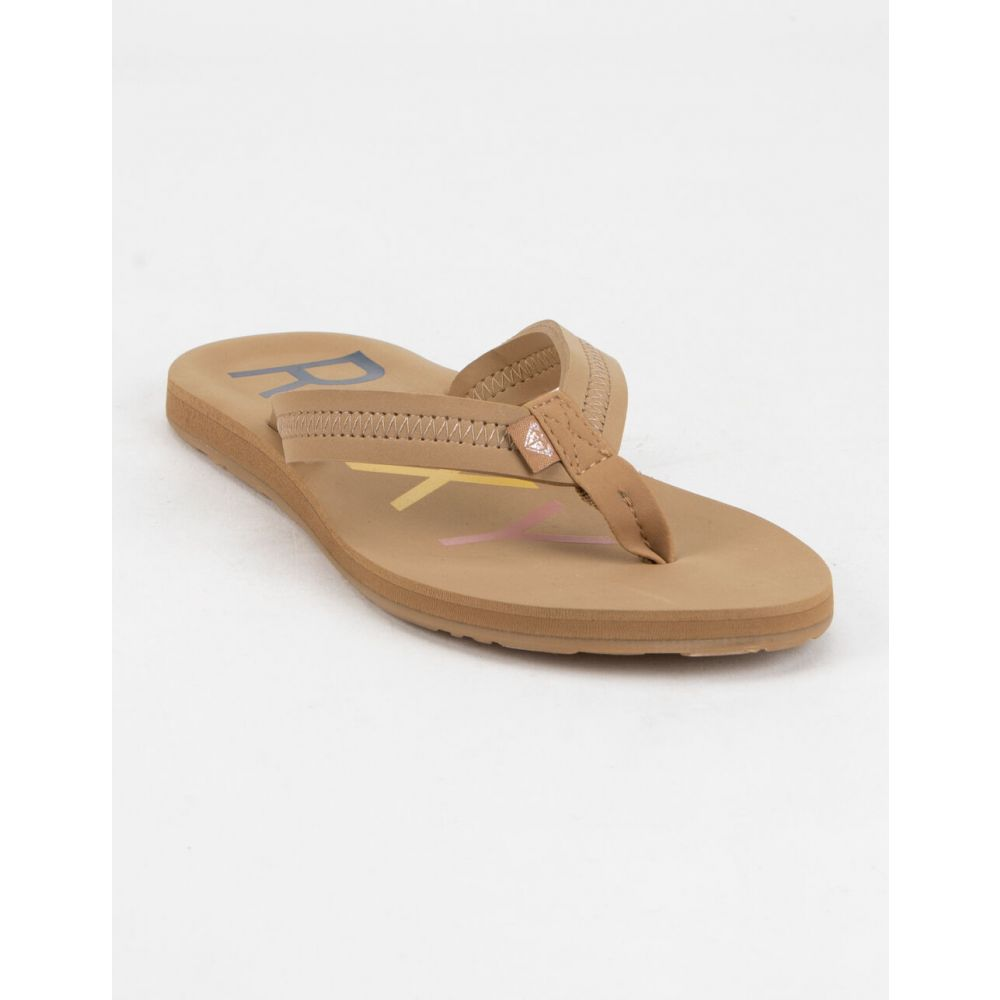 ロキシー ROXY レディース サンダル・ミュール シューズ・靴【Vista III Chocolate Sandals】TAN