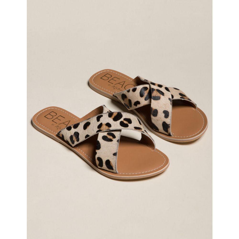 マチス MATISSE レディース サンダル・ミュール シューズ・靴【BEACH By Matisse Criss Cross Sandals】LEOPARD