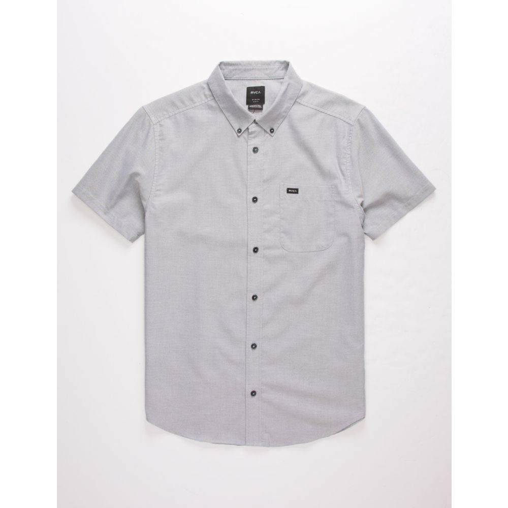 ルーカ RVCA メンズ シャツ トップス【That'll Do Stretch Mint Button Up Shirt】CHARCOAL