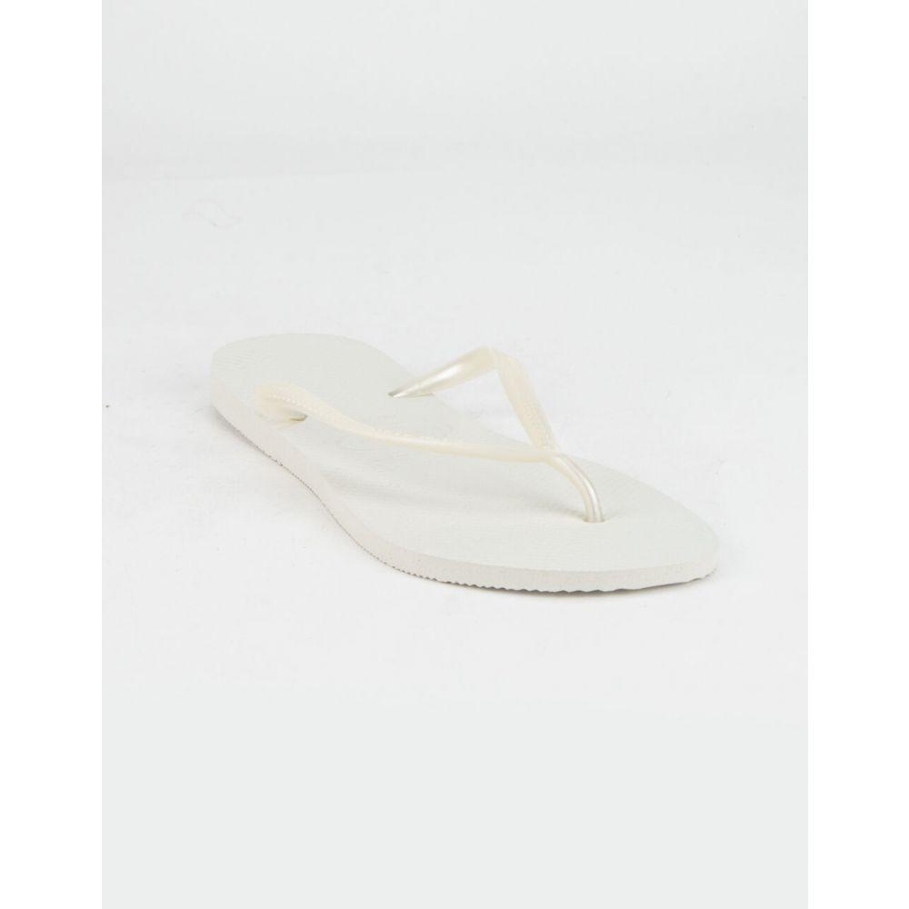 ハワイアナス HAVAIANAS レディース サンダル・ミュール シューズ・靴【Slim Rose Sandals】WHITE