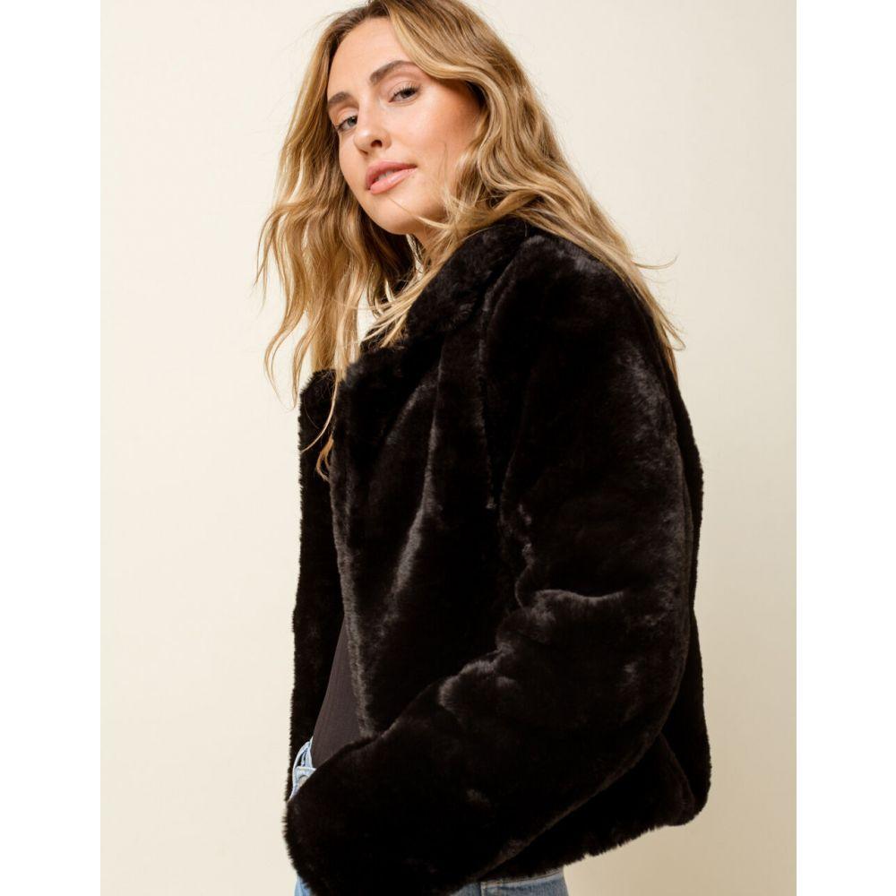 ブランクニューヨーク BLANK NYC レディース ジャケット アウター【Furry Jacket】BLACK