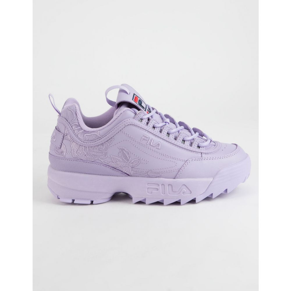 フィラ FILA レディース スニーカー シューズ・靴【Disruptor II Embroidery Shoes】LILAC