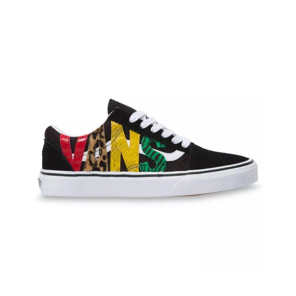 ヴァンズ VANS レディース スニーカー シューズ・靴【Multi Animal Old Skool Shoes】RASTA/BLACK