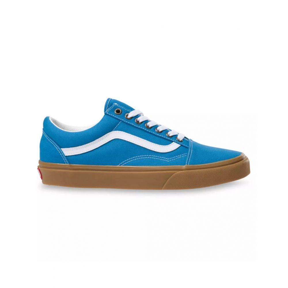 ヴァンズ VANS レディース スニーカー シューズ・靴【Gum Old Skool Mediterranean Blue & True White Shoes】BLUE