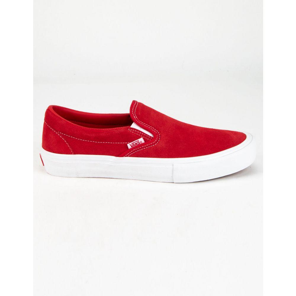 ヴァンズ VANS メンズ スリッポン・フラット シューズ・靴【Slip-On Pro Red Shoes】RED