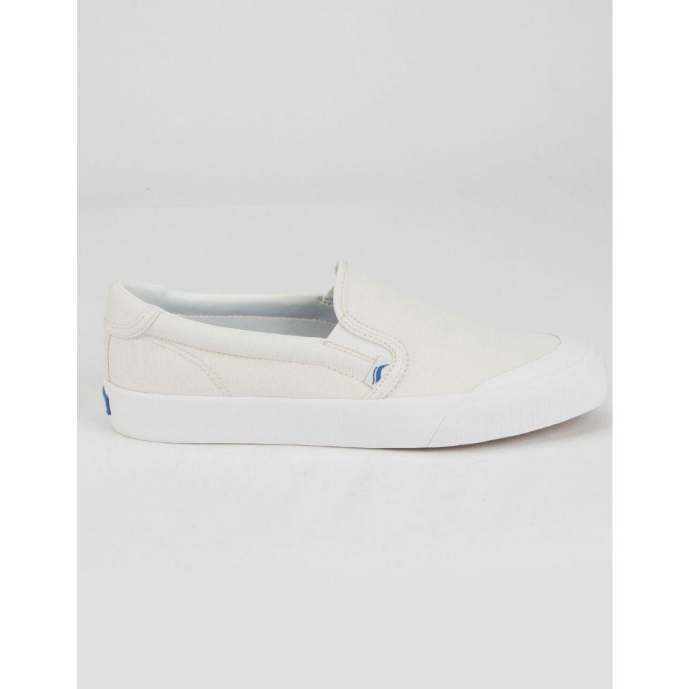 ケッズ KEDS レディース スリッポン・フラット シューズ・靴【Crew Kick 75 Slip-On Shoes】WHITE