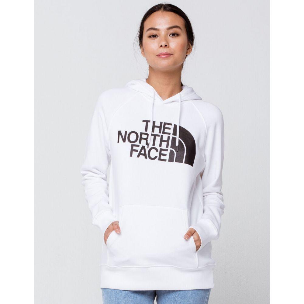 ザ ノースフェイス THE NORTH FACE レディース パーカー トップス【Half Dome Black Hoodie】WHITE