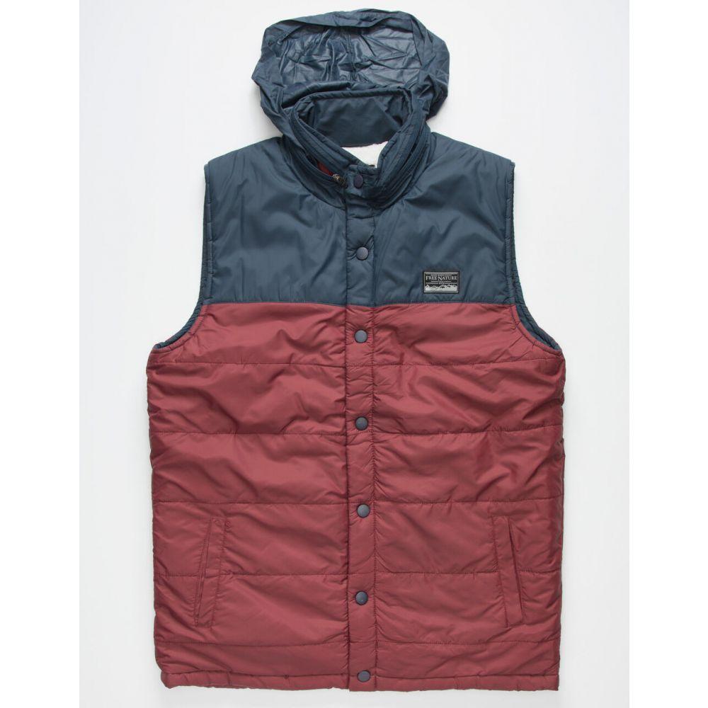 フリー ネイチャー FREE NATURE メンズ ベスト・ジレ トップス【Sherpa Navy Puffy Vest】NAVY:フェルマート
