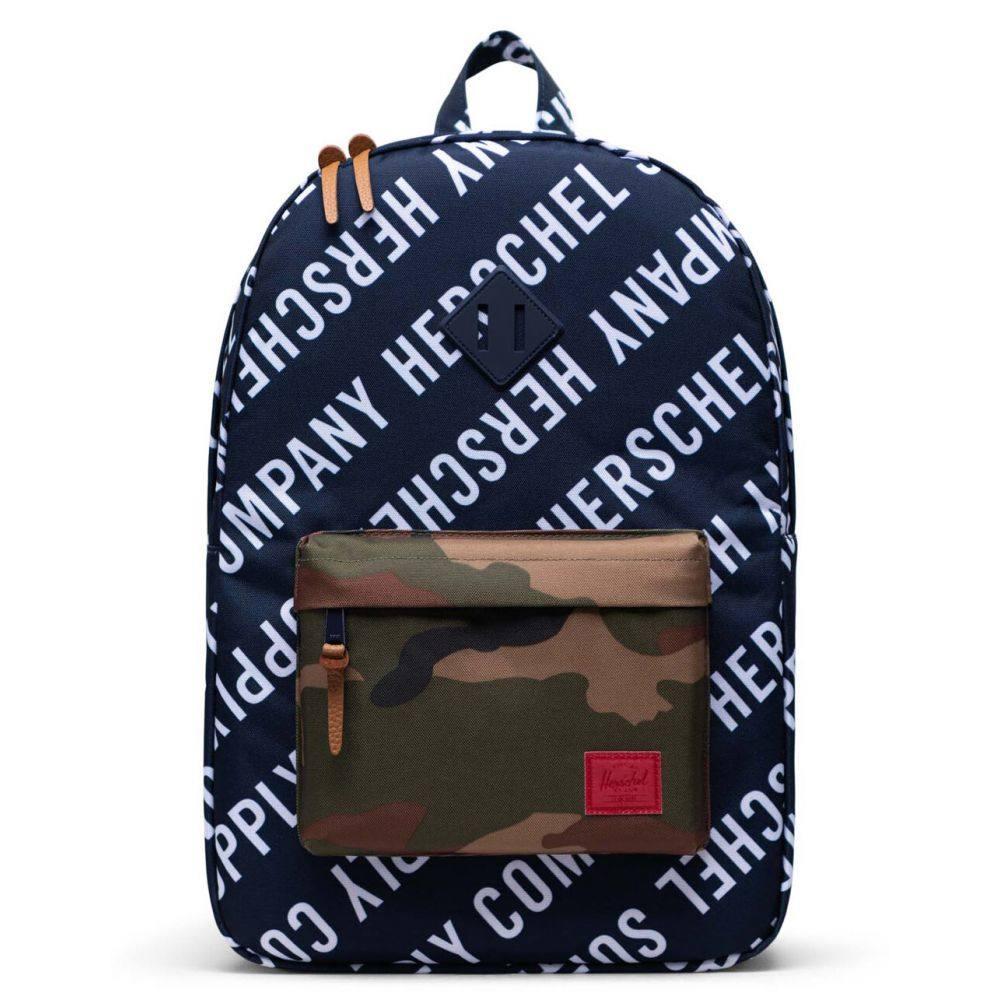 ハーシェル サプライ HERSCHEL SUPPLY CO. レディース バックパック・リュック バッグ【Heritage Roll Call Peacoat & Camo Backpack】PEACOAT/WOODLAND CAMO