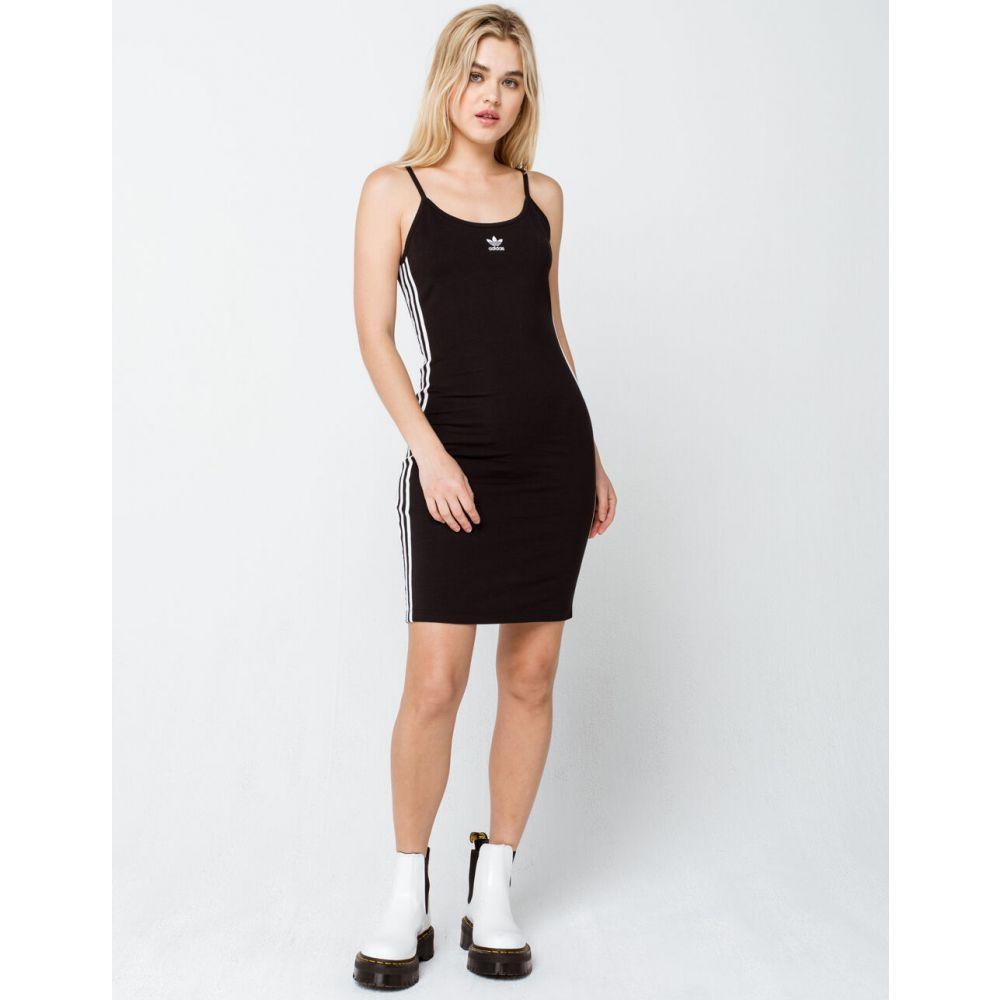 アディダス ADIDAS レディース ワンピース タンクドレス ワンピース・ドレス Spaghetti Strap Tank Dress BLACK WHITEAR4L5j