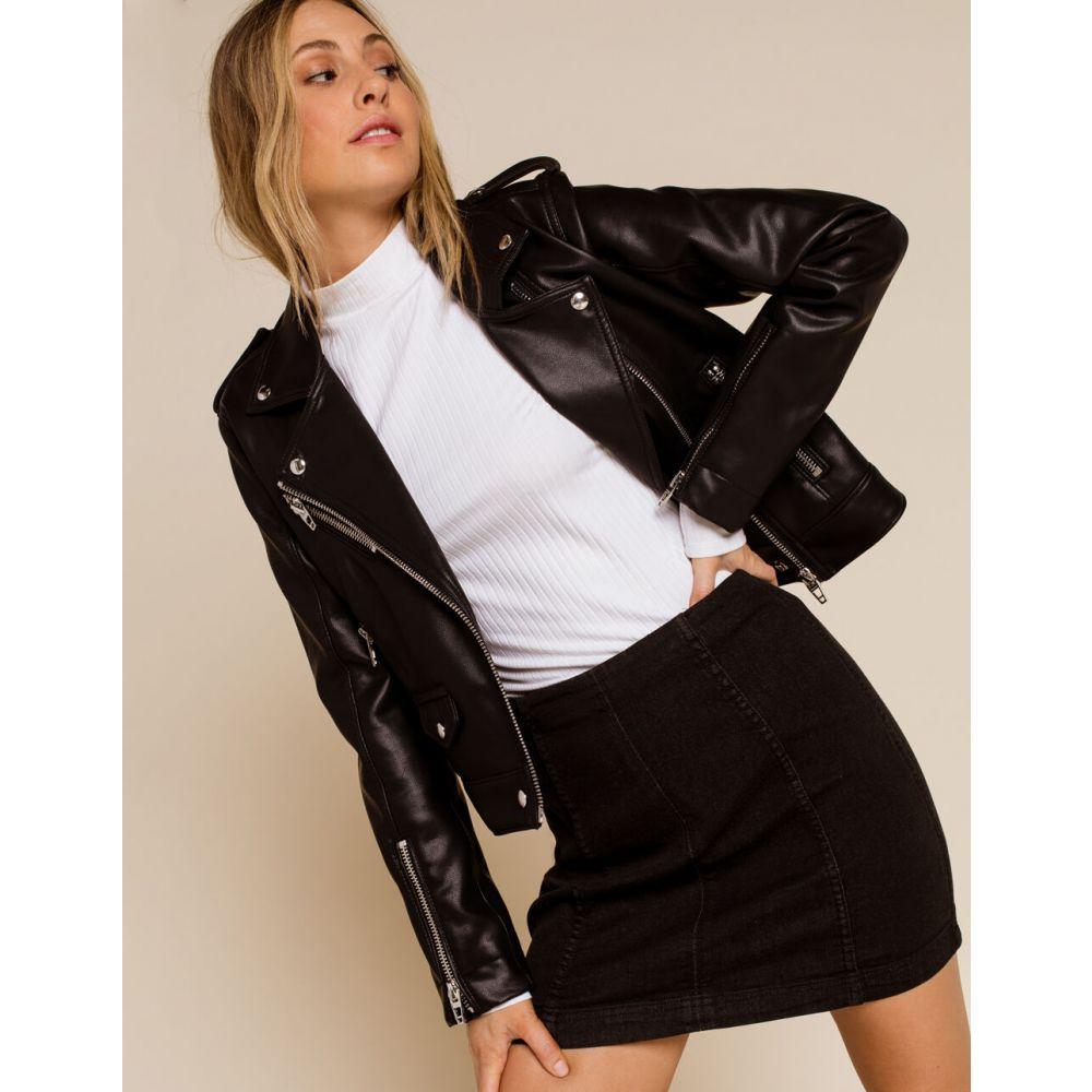 フリーピープル FREE PEOPLE レディース ミニスカート デニム スカート【Modern Femme Denim Mini Skirt】BLACK