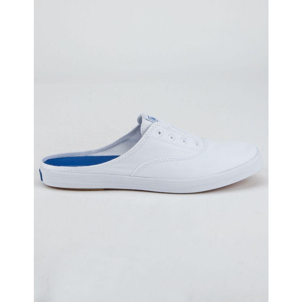 ケッズ KEDS レディース サンダル・ミュール シューズ・靴【Moxie Washed Twill Mules】WHITE