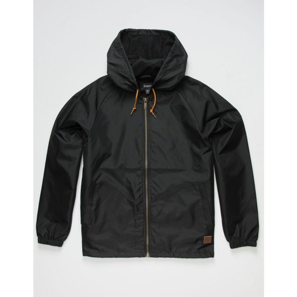 ブリクストン BRIXTON メンズ ジャケット ウィンドブレーカー アウター【Claxton Black Windbreaker Jacket】BLACK