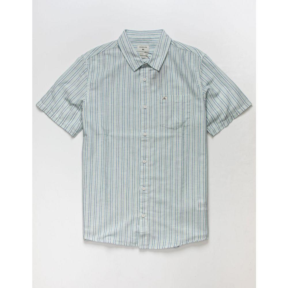 クイックシルバー QUIKSILVER メンズ シャツ トップス【Oxford Lines Button Up Shirt】LIGHT BLUE