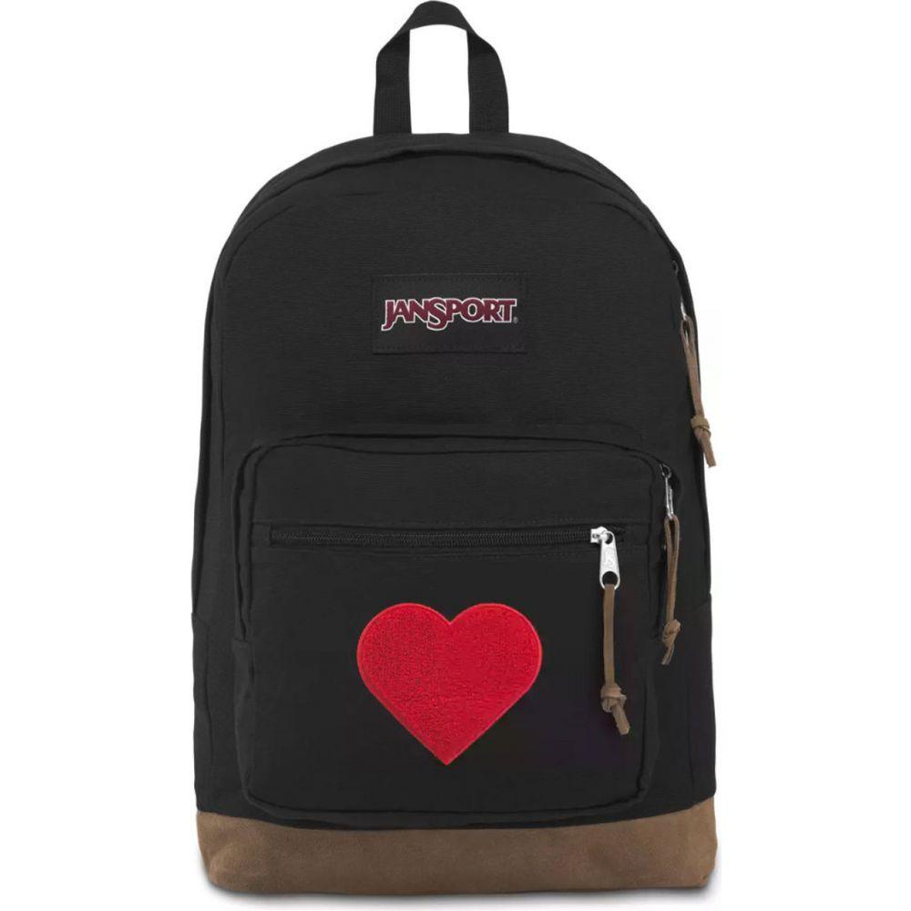 ジャンスポーツ JANSPORT レディース バックパック・リュック バッグ【Right Pack Expressions All The Love Backpack】BLACK