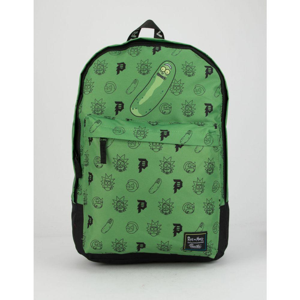 プリミティブ PRIMITIVE レディース バックパック・リュック バッグ【x Rick & Morty Pickle Rick Backpack】GREEN COMBO