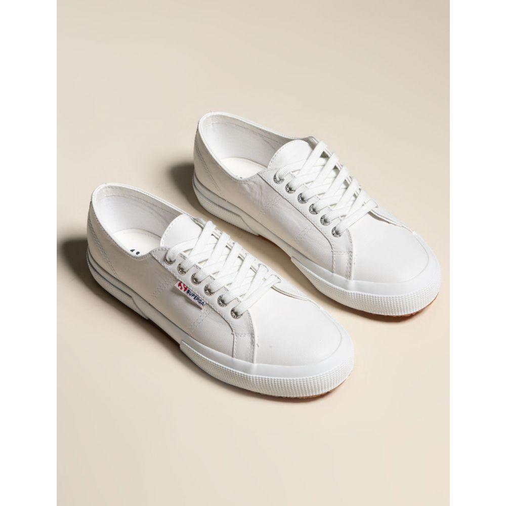 スペルガ SUPERGA レディース スニーカー シューズ・靴【SUERGA 2750 Nappaleau Leather Shoes】WHITE