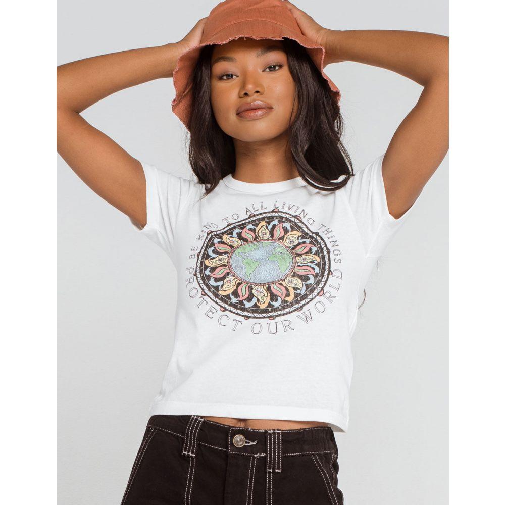 アーバンアウトフィッターズ BDG URBAN OUTFITTERS レディース Tシャツ チビT トップス【BDG Urban Outfitters Protect Our World Baby Tee】WHITE