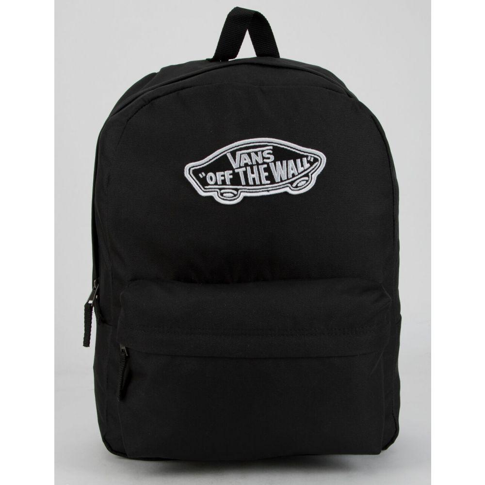 ヴァンズ VANS レディース バックパック・リュック バッグ【Realm Solid Black Backpack】BLACK