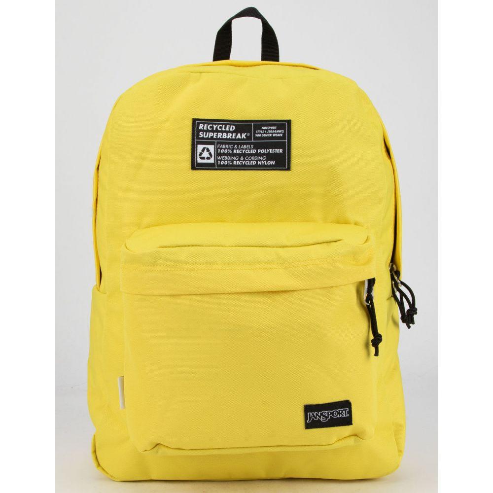 ジャンスポーツ JANSPORT レディース バックパック・リュック スーパーブレイク バッグ【Recycled SuperBreak Yellow Backpack】YELLOW