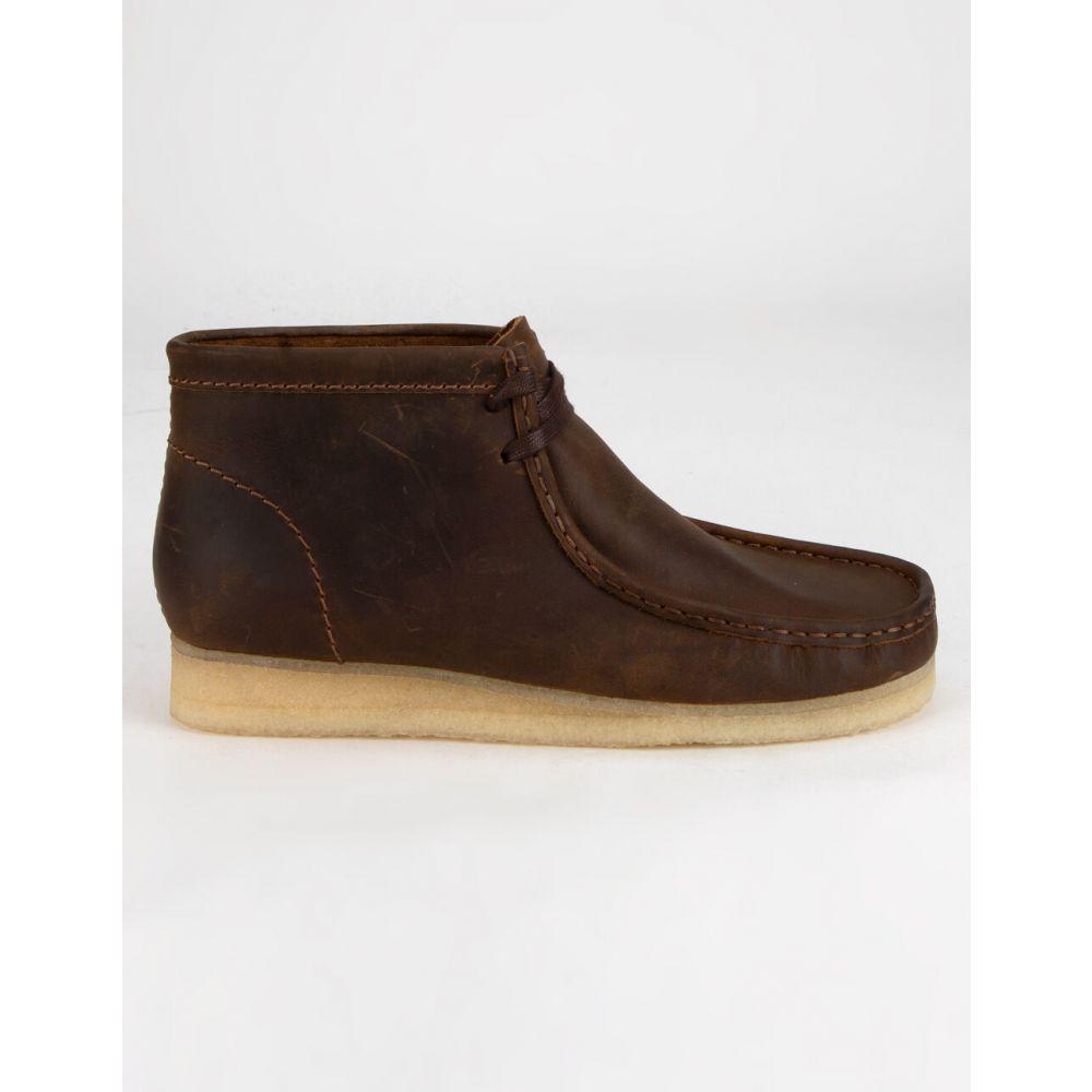 クラークス メンズ シューズ・靴【Wallabee Boots】BROWN ブーツ CLARKS