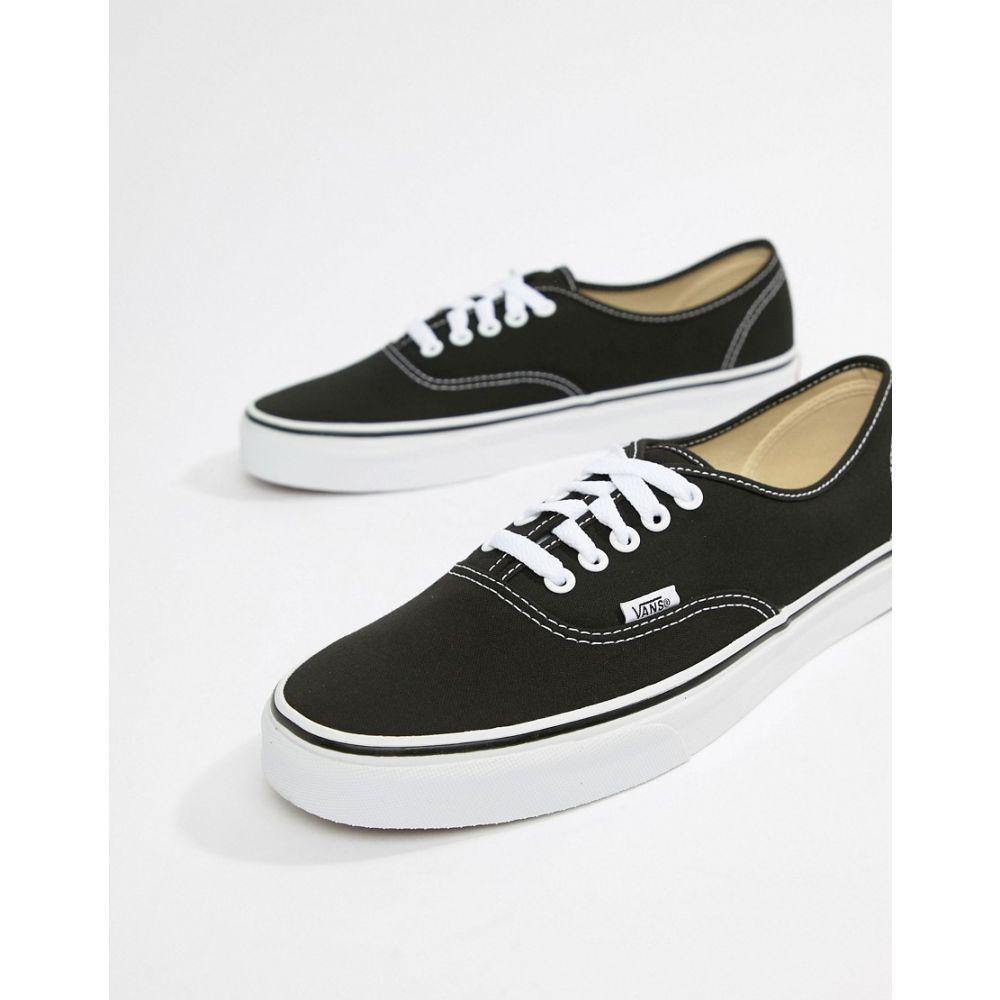 ヴァンズ Vans メンズ シューズ・靴 スニーカー【Authentic plimsolls in black VEE3BLK】Black