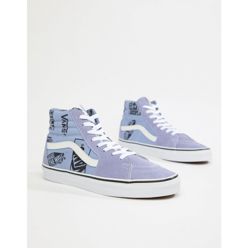 ヴァンズ Vans メンズ シューズ・靴 スニーカー【SK8-Hi trainers with logo print in blue VN0A38GEUBG1】Blue