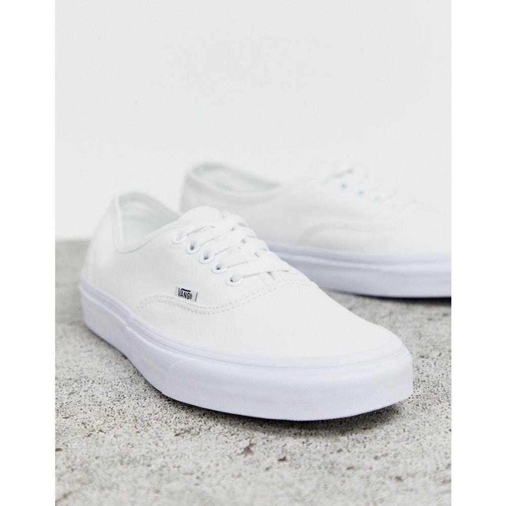 ヴァンズ Vans レディース シューズ・靴 スニーカー【Classic Authentic triple white trainers】White