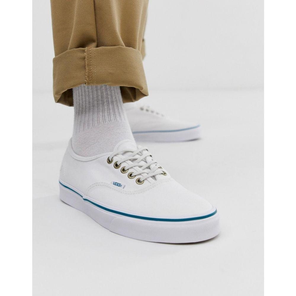 ヴァンズ Vans メンズ シューズ・靴 スニーカー【Authentic recycled plastic plimsolls in white】White
