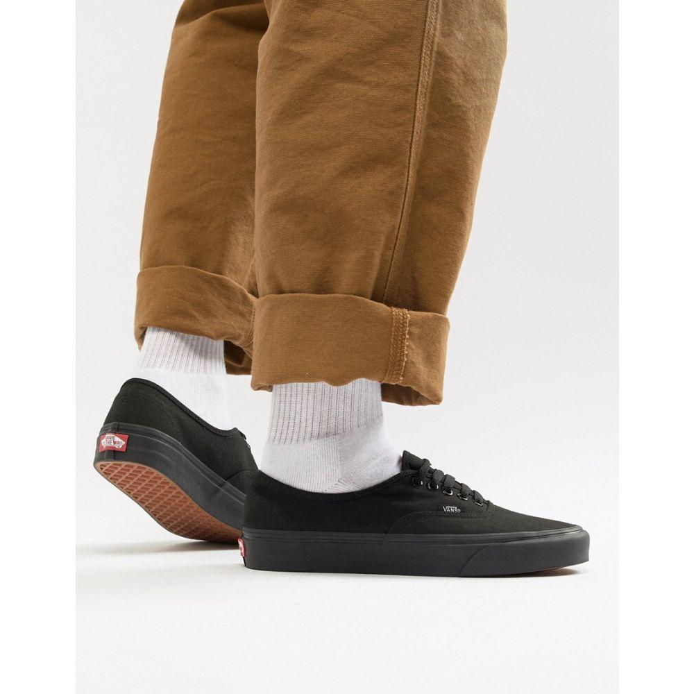 ヴァンズ Vans メンズ シューズ・靴 スニーカー【Authentic plimsolls in triple black】Black