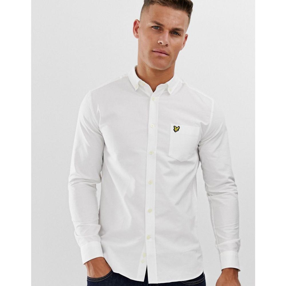 ライル アンド スコット Lyle & Scott メンズ トップス シャツ【logo long sleeve oxford shirt in white】White